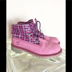Timberland Little Girls 3 Pink waterproof boots